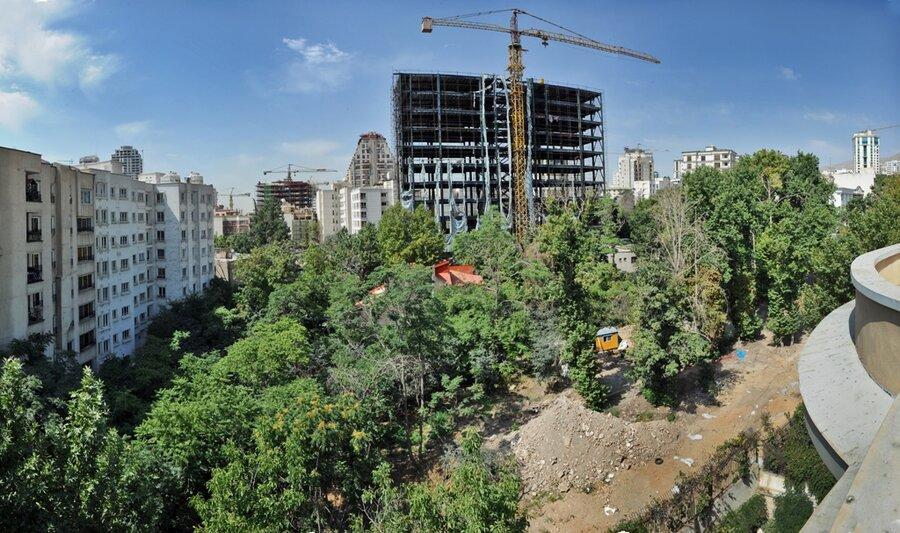 525 برج باغ های تهران را بلعیدند