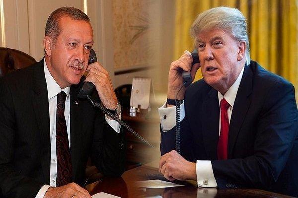 گفتگوی تلفنی اردوغان و ترامپ درباره منطقه امن در شمال سوریه