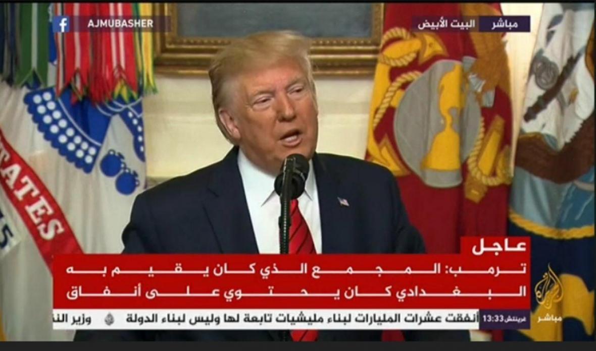 ترامپ: تایید کشته شدن رهبر داعش، او مثل یک سگ مُرد ، به طرف تونل فرار و خود را منفجر کرد