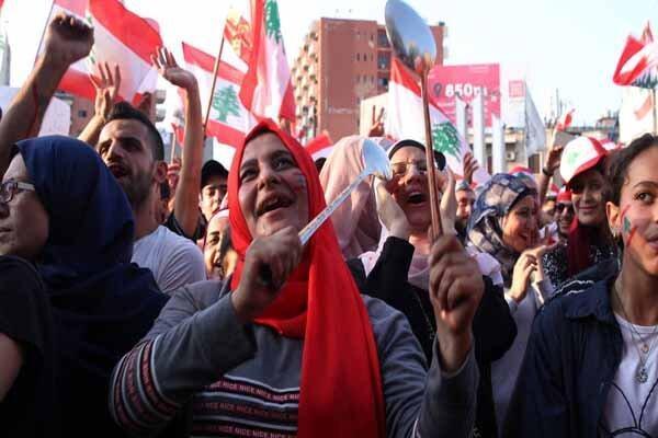 بیست و دومین روز اعتراضات در لبنان و شگرد جدید معترضان
