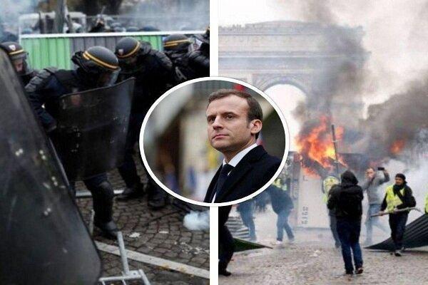 تظاهرات جلیقه زردها در فرانسه برگزار گردید