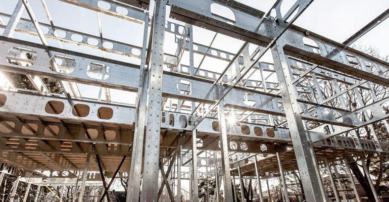 ستون گذاری بر اساس معماری و قواعد سازه ای