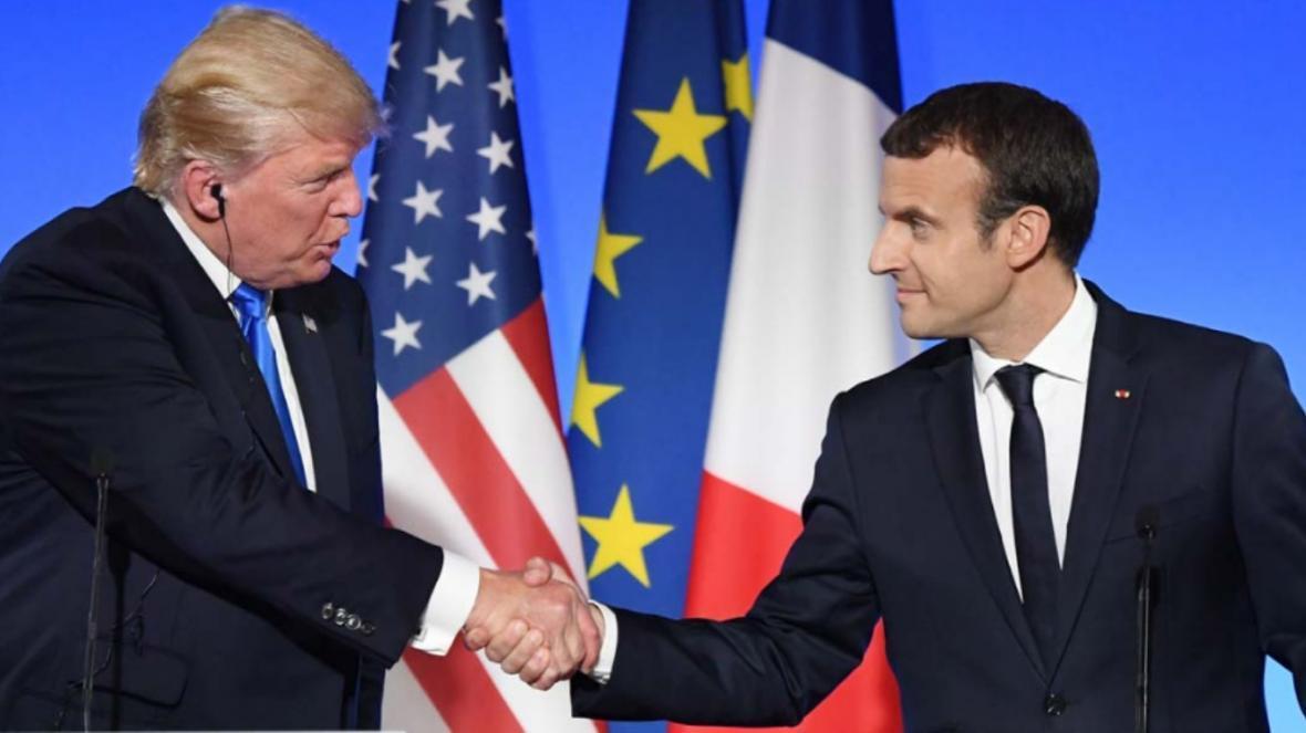 ترامپ و مکرون خواهان برگزاری جلسه پنج عضو دائم شورای امنیت شدند