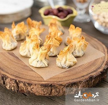 بقچه گوشتی با خمیر فیلو خوشمزه و مجلسی