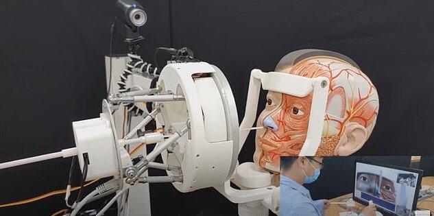 ربات ها برای انجام تست کرونا جاگزین انسان می شوند