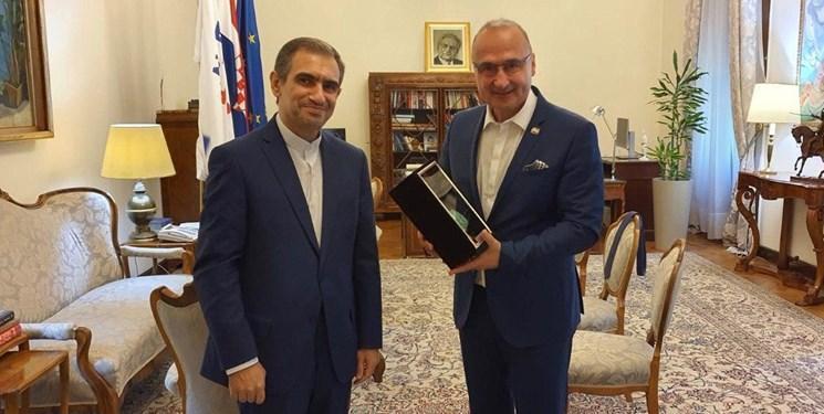 رایزنی سفیر ایران با وزیر خارجه کرواسی درباره مناسبات دوجانبه و تحولات مرتبط با برجام