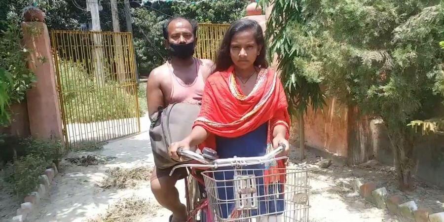 جذاب تر از فیلم بالیوودی ، 1200 کیلومتر رکاب زدن دختر هندی به عشق پدر