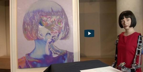 برگزاری نمایشگاه نخستین ربات انسان نمای هنرمند دنیا