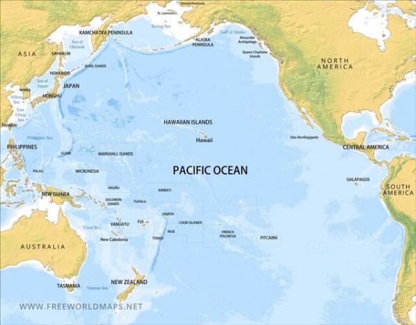رزمایش ناوگان اقیانوسیه روسیه در بخش مرکزی اقیانوس آرام