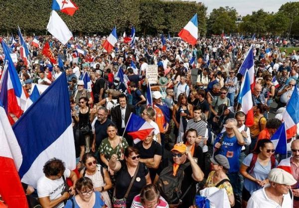 تور فرانسه: برگزاری اعتراضات ضد قواعد کرونایی در فرانسه برای هشتمین هفته متوالی
